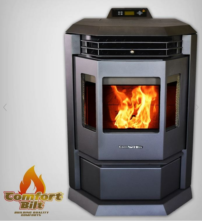 Pellet stove black