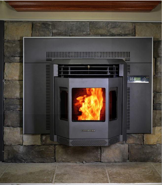 comfortbilt pellet stove fireplace insert