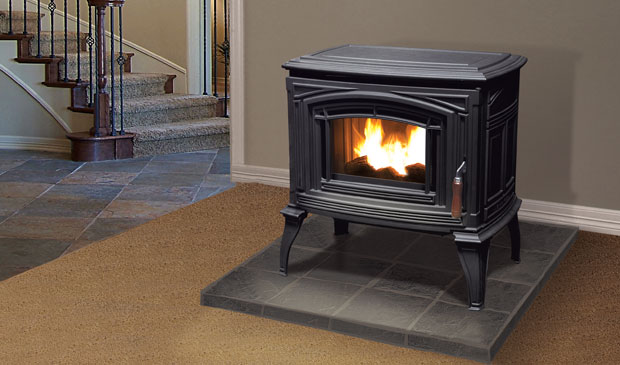 Meridian cast iron pellet stove