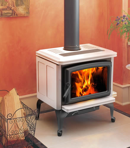 wood stove and fireplaces